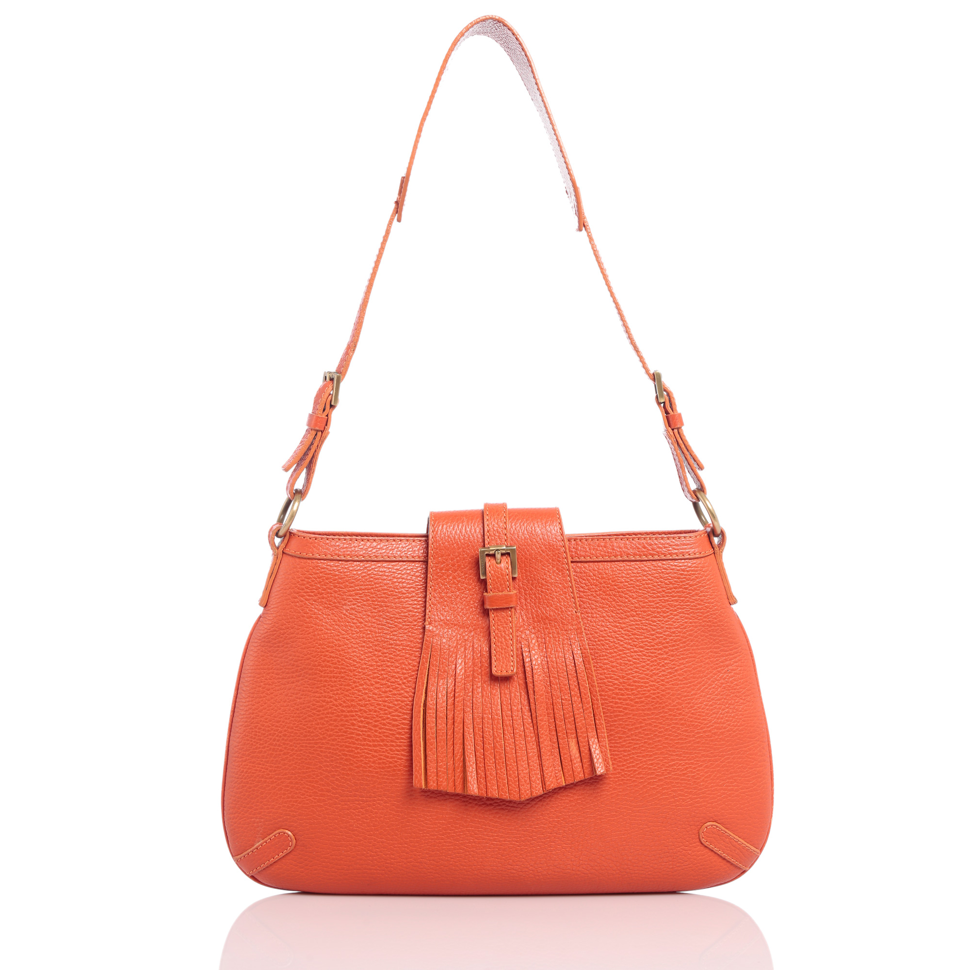 Authentic Burberry Handbag Online India My Luxury Bargain Orange Leather Shoulder Bag