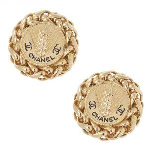 Buy Authentic Chanel Vintage Jewellery Online India My Luxury Bargain Chanel Vintage Trigo Clip Earrings 2003