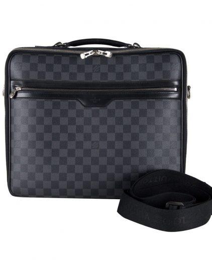Buy Louis Vuitton Laptop Bag Online My Luxury Bargain LOUIS VUITTON DAMIER GRAPHITE CANVAS STEVE LAPTOP BAG