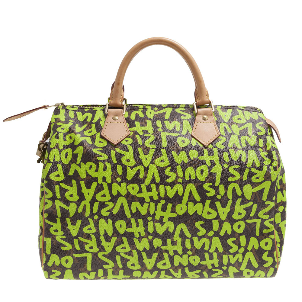 ce2950cf98e Louis Vuitton Limited Edition Stephen Sprouse Lime Graffiti Speedy 30