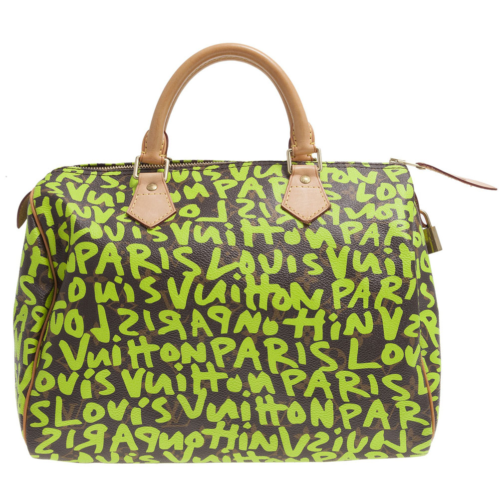 348a781b7821 Louis Vuitton Limited Edition Stephen Sprouse Lime Graffiti Speedy 30