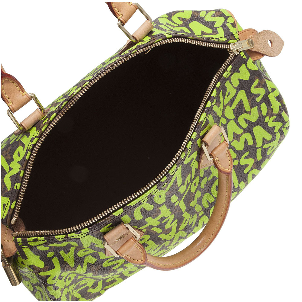 d159032a564 ... Louis Vuitton Limited Edition Stephen Sprouse Lime Graffiti Speedy 30  ...