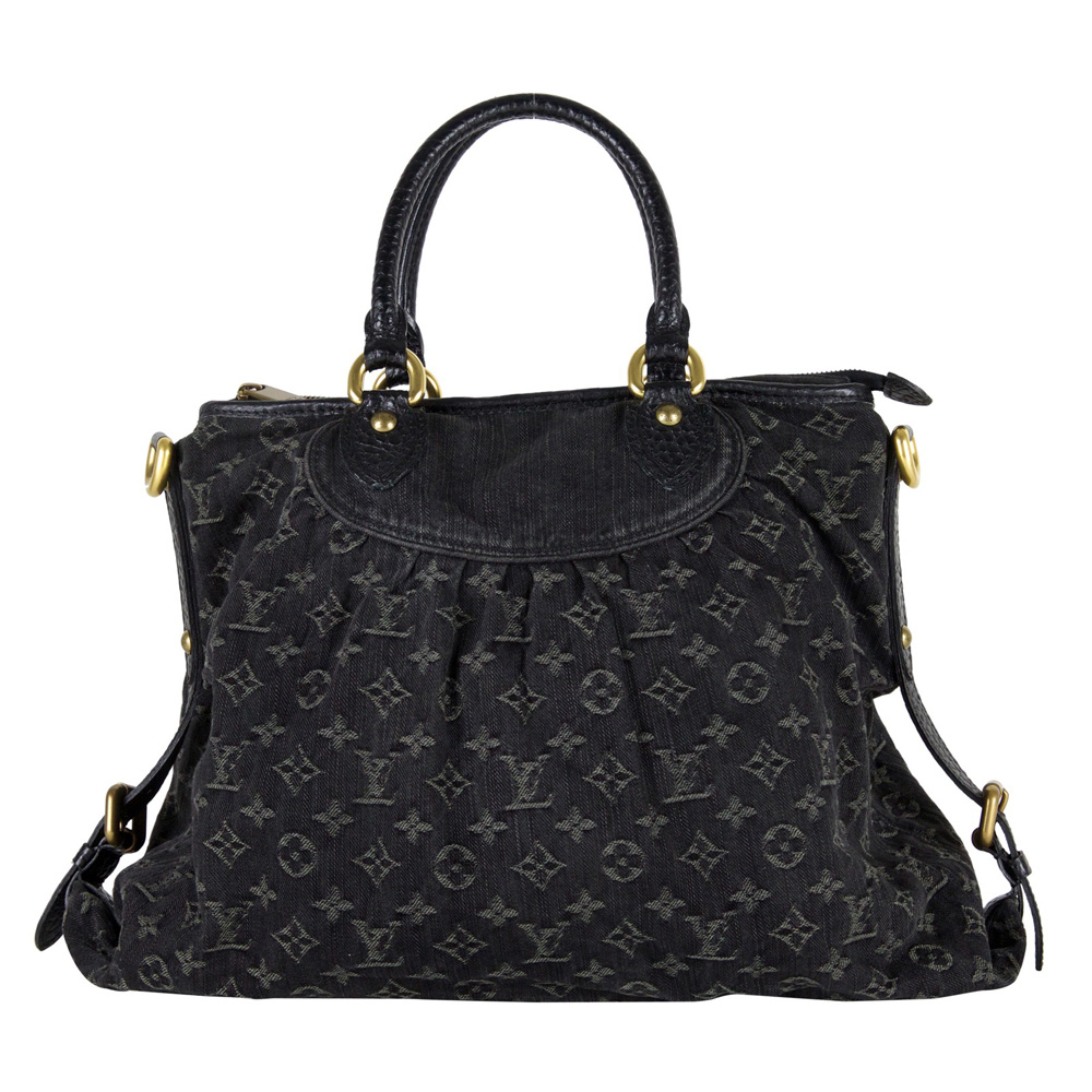 LOUIS VUITTON BLACK MONOGRAM DENIM NEO CABBY GM HANDBAG. Caricamento  dell immagine in corso ... 58e23d4768834